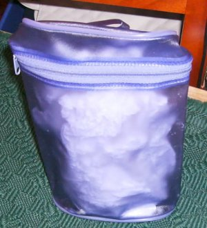 Purple Vinyl Storage Bag -Great for Organization