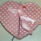 Avon Pink Heart Box For Ear Rings or Rings or Other