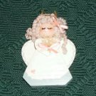 Wooden Angel Figurine, With Heart,Halo With Stars,Cute