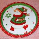 Dancing Snowman Tray, Polka Dots,Snowflakes, Very Cute
