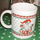 Cute Mother and Baby Bears Coffee Cup, Christmas Theme