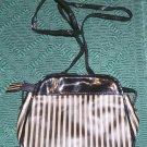 Brown & Black Striped Purse from Cosmetique, Pretty