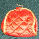 Red Quilted Cosmetic Bag, Very Pretty, New, Satin