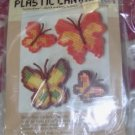 PRETTY CARON BUTTERFLY MAGNETS, MAKES 4
