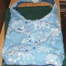 BLUE FLORAL SLING BAG WITH UMBRELLA POCKET, VERY NICE
