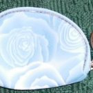 ROSE COIN PURSE WITH KEY RING - NEW- SO SWEET