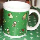 Candy Cane Xmas Mug,Festive, Trees,Holly,Stockings Cute