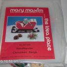 MARY MAXIM CHRISTMAS SLEIGH MUSIC BOX KIT