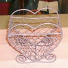 Lavender Heart Shaped Wire BAsket,Cute,Take a Look-See