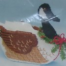 PRETTY CANADA GOOSE BASKET - DECORATED FOR XMAS