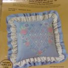 HEART OF ROSES CANDLEWICKING & EMBROIDERY PILLOW-PRETTY