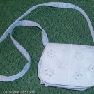 Blue Daisy Mini Shoulder Bag, Very Pretty, Suede Feel