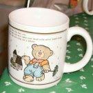 Farmer Bear & House Collectible Mug,With Pretty Verse
