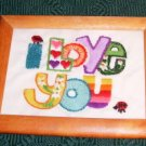 I LOVE YOU Handmade Picture - Sweet - Cute