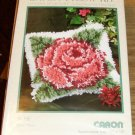 ROSE PILLOW LH KIT FROM WONDERART- VERY PRETTY ON WHITE