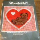 BEAR LOVE VALENTINE HEART EYELET TRIMMED WONDERART NIB