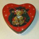 Cute Bear Heart Shaped Tin, Snowflakes & Wreath,Holiday