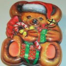 Teddy Bear & Candy Canes-Sweet Shaped Tin, Many Uses