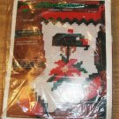 PRETTY NEEDLEPOINT POINSETTIA XMAS STOCKING FROM NMI