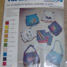 GREAT DENIM HANDBAG KIT-IRON ON DESIGNS-FADED BLUE