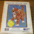 CAT AND BALL - SWEET RUG OR WALL HANGING KIT FROM NYC
