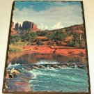 Red Cliff Scenic Picture Laminated on Wood,Very Pretty
