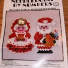 MR & MRS SANTA CLAUS DOORKNOB COVERS - NEEDLEPOINT BY N