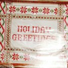 HOLIDAY GREETINGS COUNTED XSTITCH PICTURE-CREATIVE CIRC