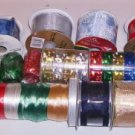 16 Rolls of Gift and Crafting Ribbon, Variety of Colors