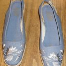 BEACON IMPRESSIONS BLUE EMBROIDERED SANDAL, NIB