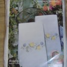 YELLOW ROSEBUDS TERRY KITCHEN TOWELS FROM TOBIN- NIP