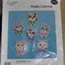 KITTY FACE MAGNETS WITH BOW TIES - CUTE - GOLDEN BEE