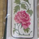 STITCH N ZIP ROSE AND LEAVES EYEGLASS/CELL PHONE CASE 1