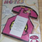 PRETTY PINK TELEPHONE NOTEPAD HOLDER, NIP