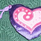 CUTE HEART WITH KEY FOB - PURPLE & PINK - SWEET