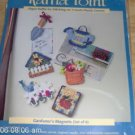 RAFFIA POINT GARDENERS MAGNETS, SET OF 6, NIP