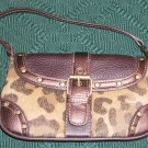 LEOPARD LOOK BROWN WRIST PURSE, NEW WITH TAG