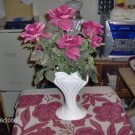 PRETTY HEART VASE WITH FLOWERS