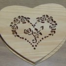 HEART WOODEN BOX NEW FROM CREATE A CRAFT