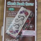 CHARLES CRAFT CABBAGE ROSE CHECKBOOK COVER 1
