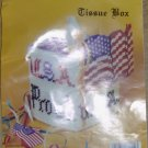 USA PROUD TISSUE BOX COVER - BOTIQUE STYLE