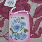 Blue Flowered Door Hanger