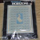 MONARCH HORIZONS, 1985, GOOSE QUILT, APPROX 11 X 14