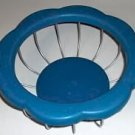 BLUE EDGED WIRE BASKET, NEW,GREAT FOR FRUIT