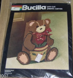 COUNTRY BEAR DOORSTOP FROM  BUCILLA - NIP-CUTE