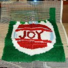 JOY LATCH HOOK RUG/WALL HANGING ALMOST FINISHED PRETTY