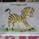 COMICAL ZEBRA - JUST ADORABLE NEEDLEPOINT CANVAS