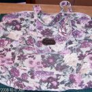 FLORAL PRINT ZIPPER TOTE BAG, NICE FOR KNITTING,ETC