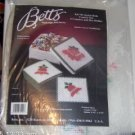 BETTS JOYFUL BELLS COASTER SET, 6 COASTERS & HOLDER