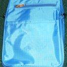 FOLDING BOOK BAG, BLUE, NEW, CONVENIENT, OR DUFFLE BAG